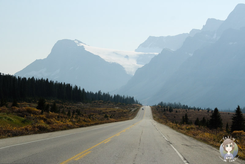 Start des Icefields Parkway in Lake Louise