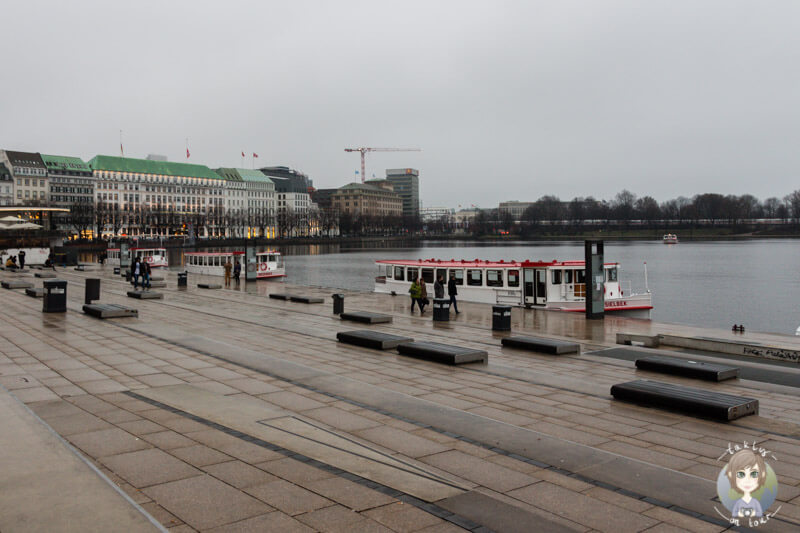 Der Jungfernstieg an der Außenalster, Hamburg