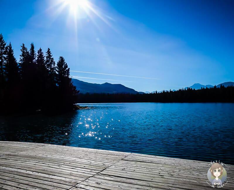 Der Lake Annette in Jasper, Kanada
