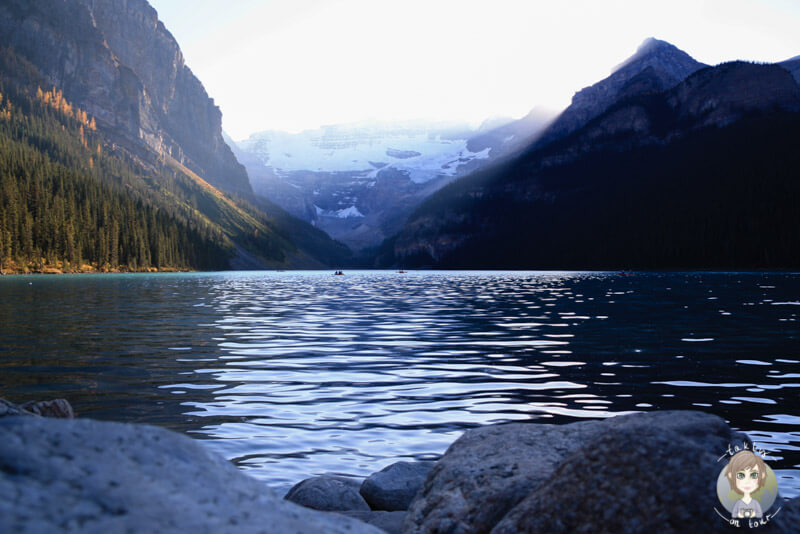 Der Lake Louise am Abend, Banff National Park, Kanada