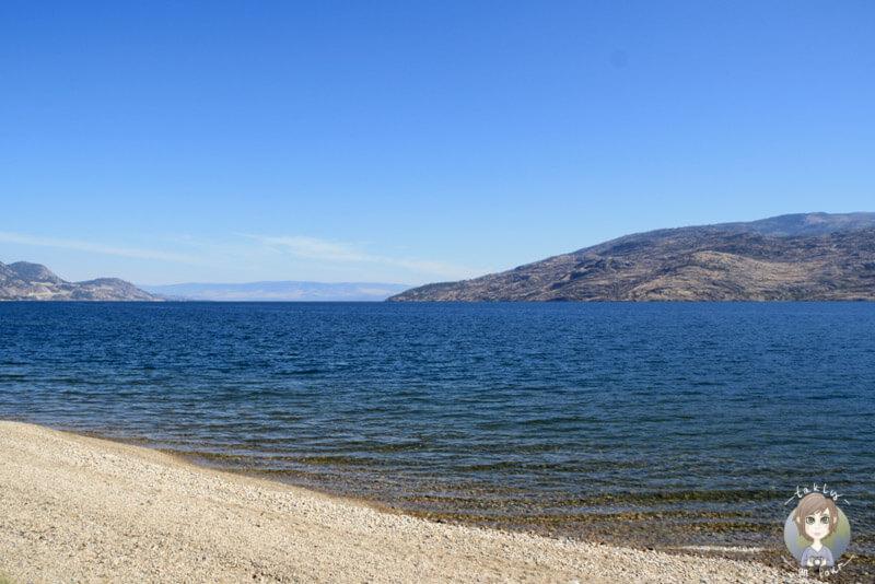 Der Okanagan Lake, BC, Kanada