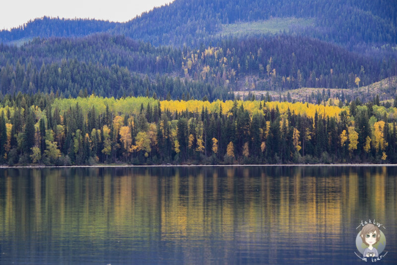 Der Birch Lake im Herbst