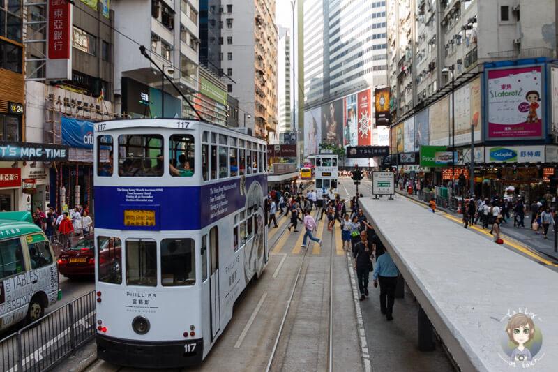 Die Fahrt mit der Tramway in Hong Kong Island