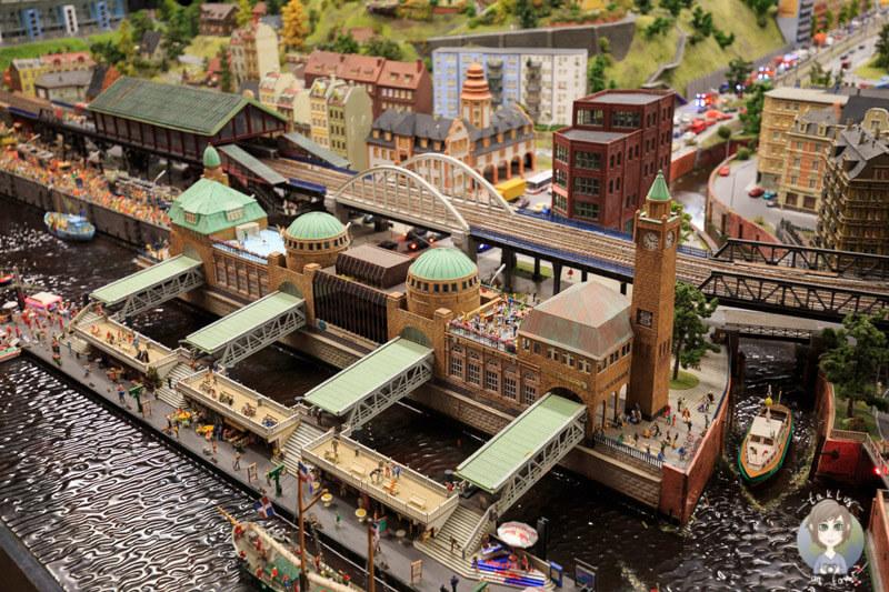 Die Landungsbrücken im Miniatur Wunderland Hamburg, Deutschland