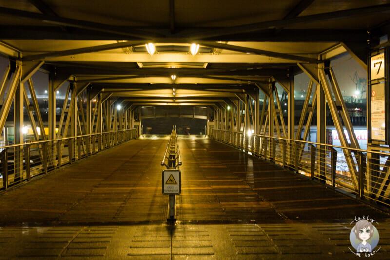 Der Weg zu den Landungsbrücken in Hamburg