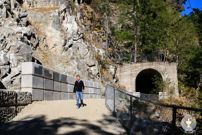 Die Othello Quintette Tunnels im Coquihalla Canyon Provincial Park, Kanada