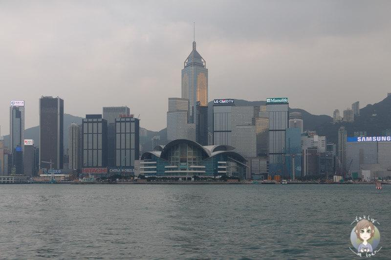 Die Skyline von Hong Kong Island