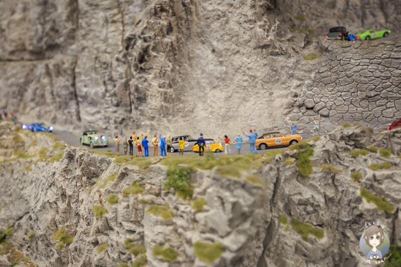 Blick nach unten auf die Schweiz im Miniatur Museum, HH