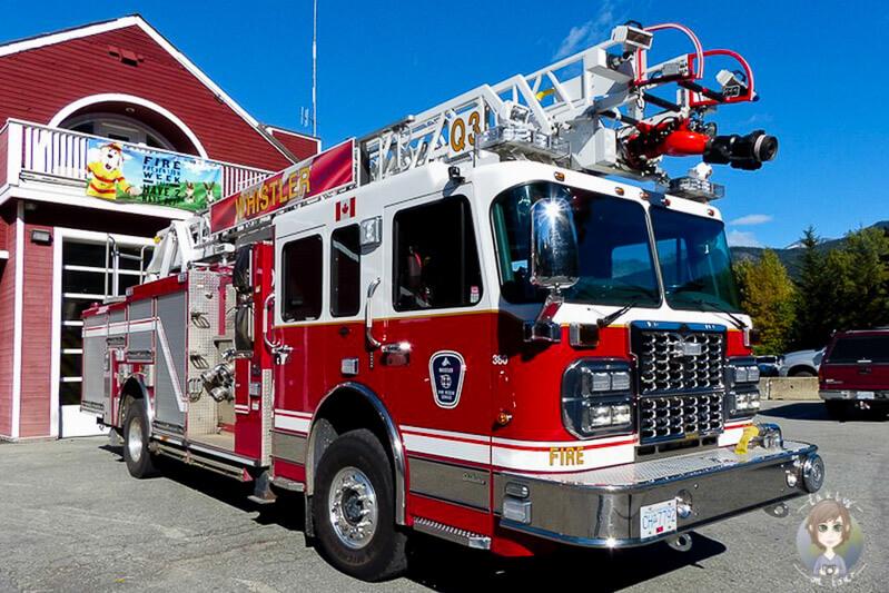 Eine Feuerwehr in Whistler, Kanada