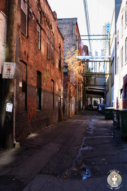 Hastings Street, die etwas unschöne Seite von Vancouver