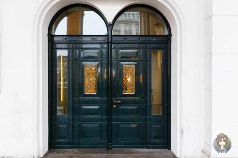 Eine malerische Haustür in Hamburg
