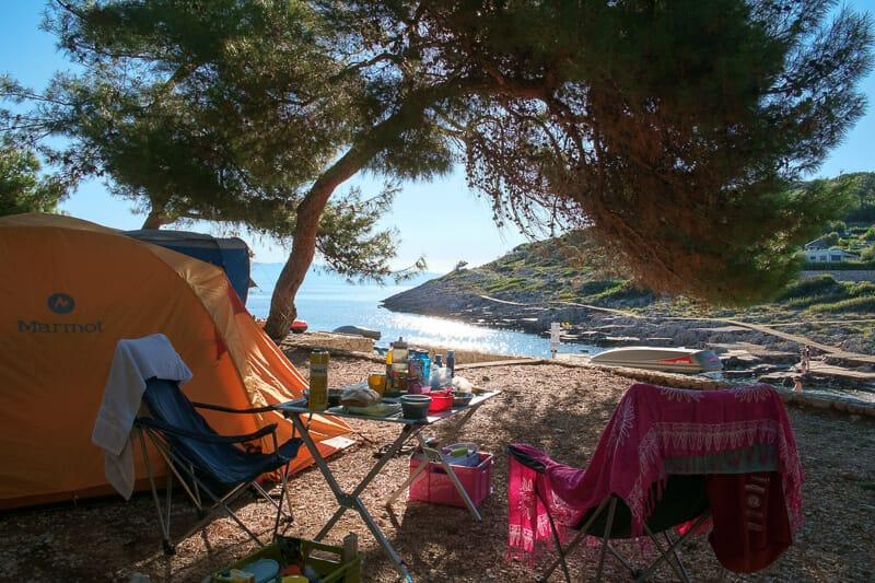 Camping in Kroatien, direkt am Wasser Campingplatz Erfahrungen