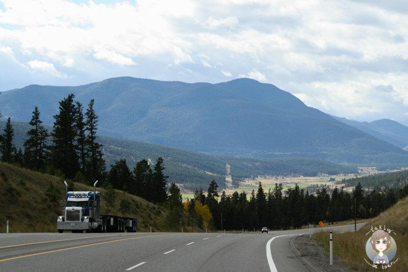 Fahrt über den Hwy 99 in BC, Kanada