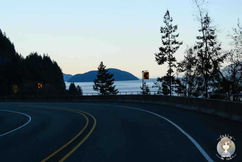 Die Fahrt über den Sea to Sky Highway Richtung Vancouver