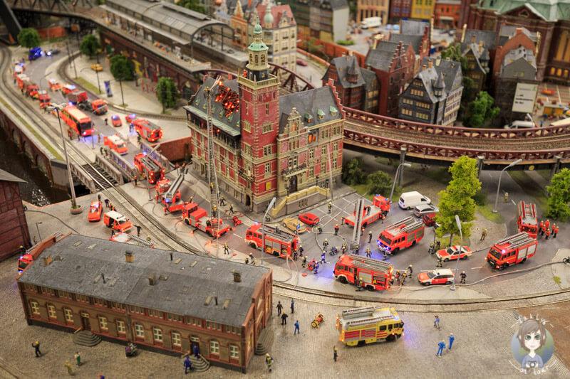 Großbrand in Hamburg, Miniatur Wunderland Hamburg