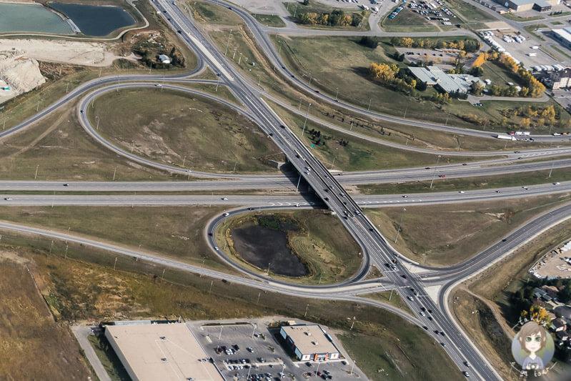 Highway in Calgary, Kanada