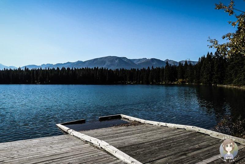 Blick über den Lake Annette, Jasper National Park, Kanada