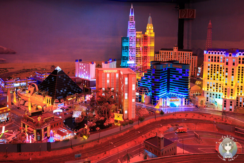Las Vegas bei Nacht im Miniatur Museum in Hamburg