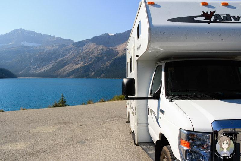 Mit dem Wohnmobil unterwegs auf dem Icefields Parkway in Kanada