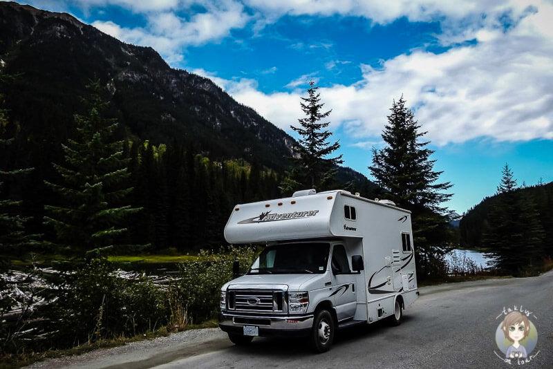 Mit dem Wohnmobil am Duffey Lake, BC, Kanada