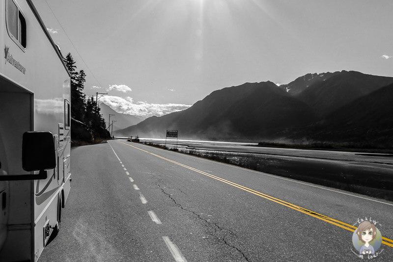 Mit dem Wohnmobil in Kanada, Rast am Lillooet Lake