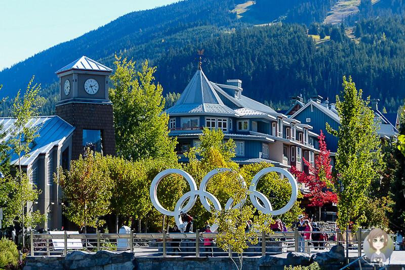 Olympische Ringe in Whistler, BC, Kanada