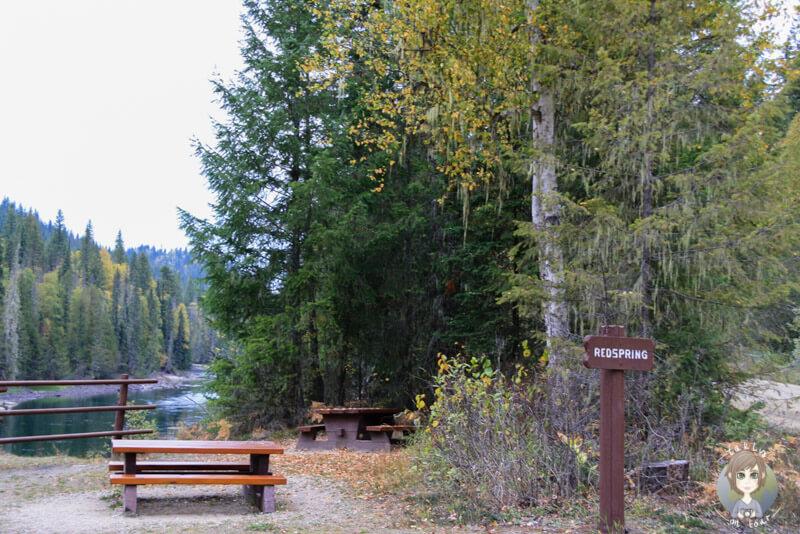 Picknickplatz Redspring, Wells Gray Provincial Park, Kanada