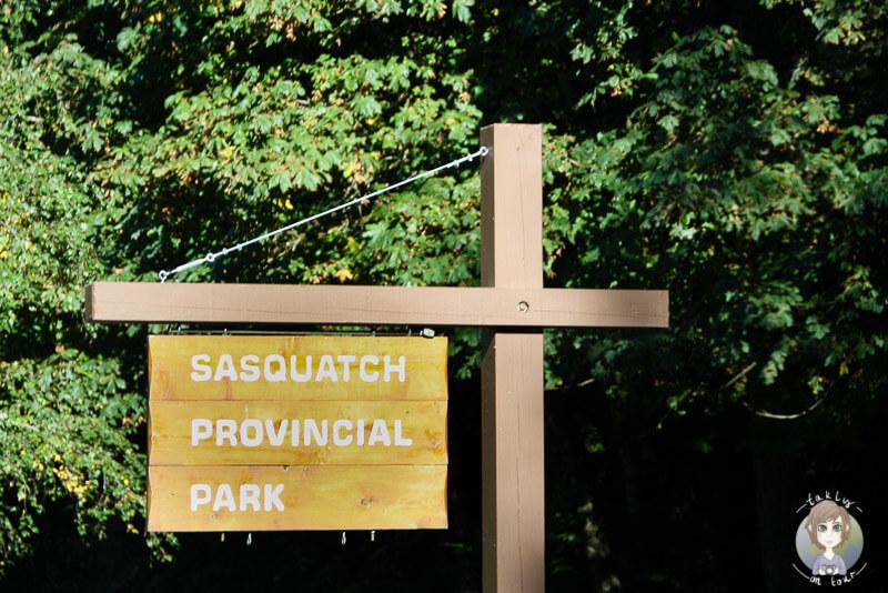 Schild zum Sasquatch Provincial Park