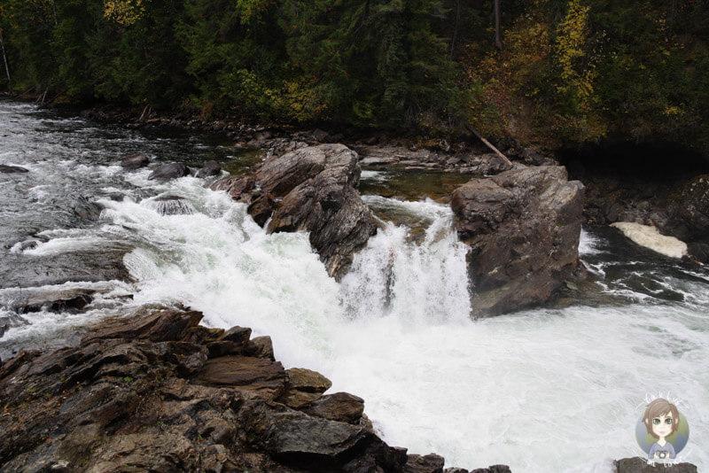 Stromschnellen im Wells Gray Provincial Park, BC, Kanada