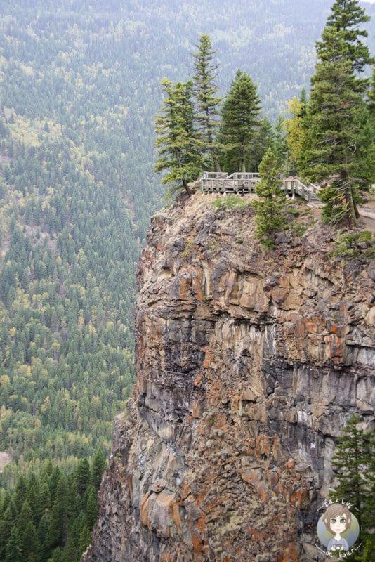 Viewpoint an den Saphta Falls, Wells Gray Provincial Park, Kanada