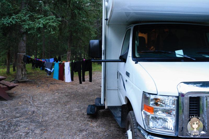 Stellplatz auf dem Whistlers Campground in Jasper