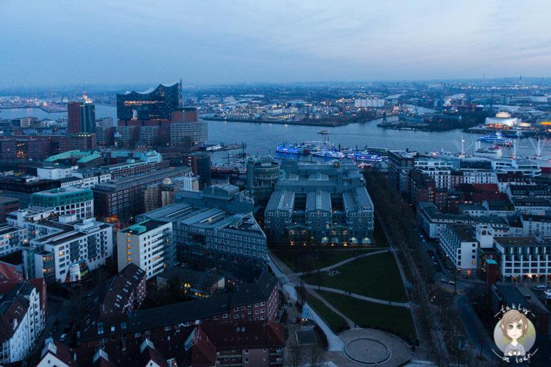 Ausblick auf Hamburg vom Michel