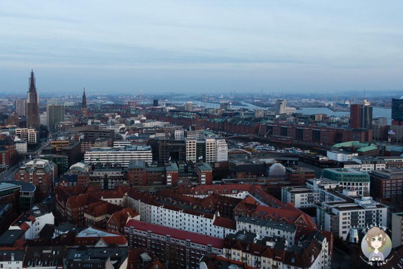 Aussicht auf die Speicherstadt Hamburg