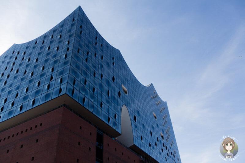 Blick auf die Elbphilharmonie in Hamburg, Deutschland