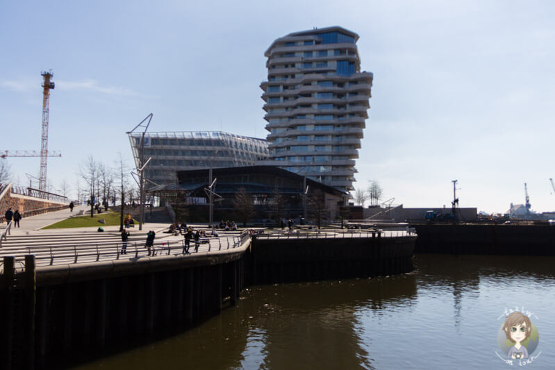 Blick auf das Unilever Haus in Hamburg