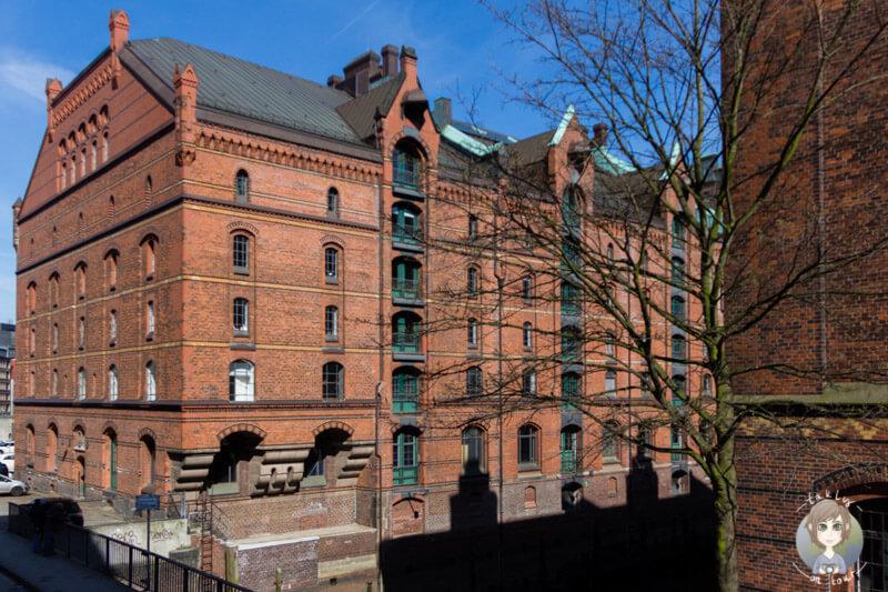 Die alten Warenhäuser in der Speicherstadt in Hamburg