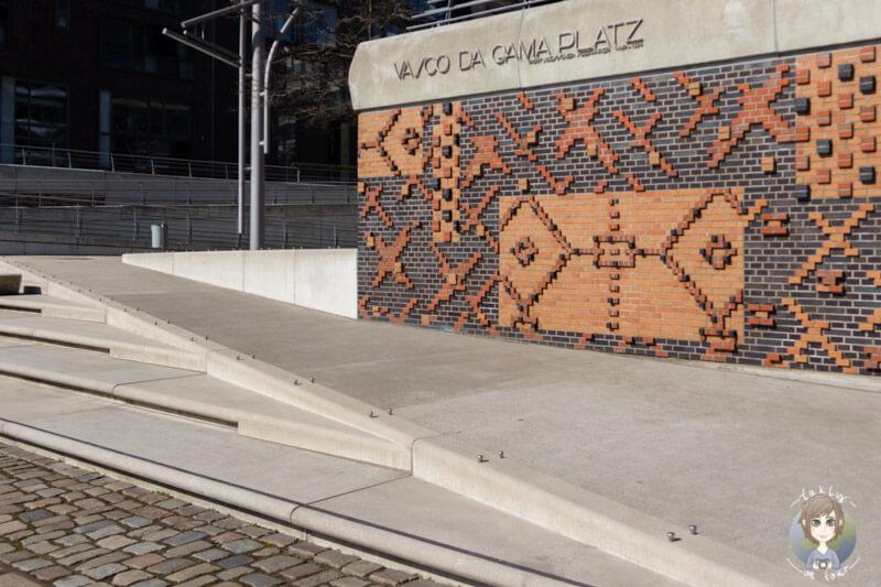 Vasco da Gama Platz in der Hafencity Hamburg