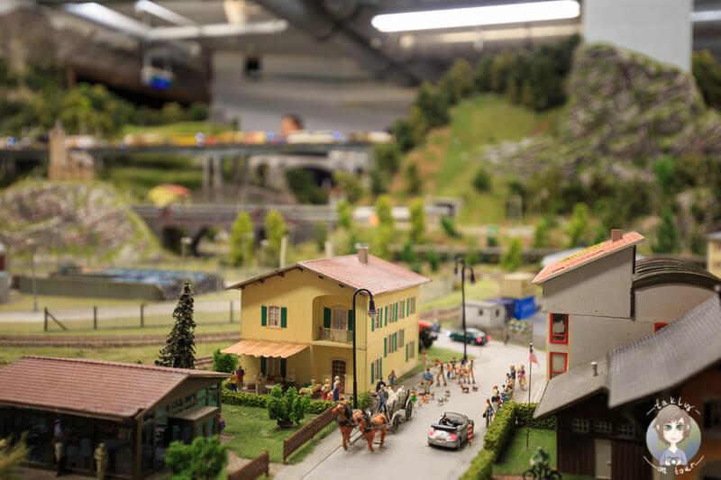 Blick auf Details im Miniatur Wunderland Hamburg