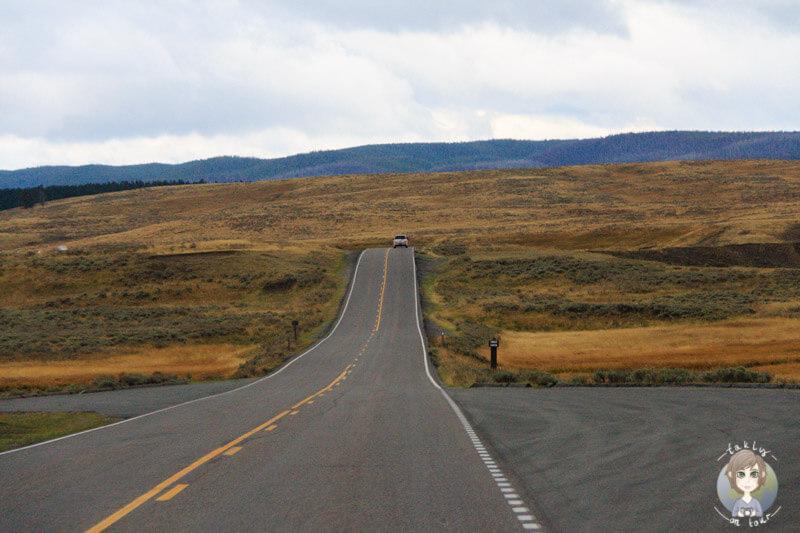 Fahrt durch den Yellowstone Park, Wyoming