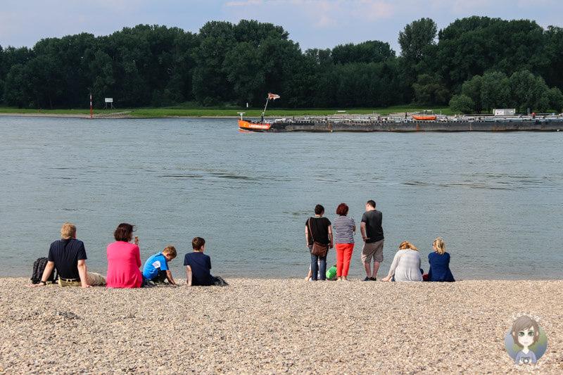 Familienausflug zum Rhein nach Zons