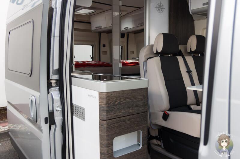 Modernes Design im Kastenwagen von Westfalia