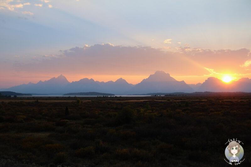 Sunset Grand Teton, Wyoming