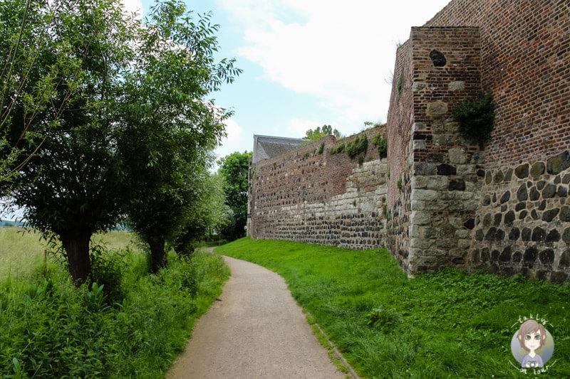 Wanderweg entlang der Stadtmauer Zons