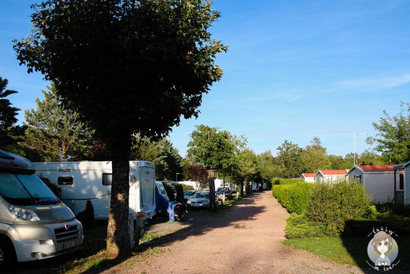 Der Campingplatz Beau rivage in Bellerive-Sur-Allier, Frankreich beim Camping in der Auvergne