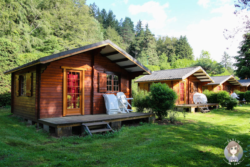 Camping Auvergne hier Chalets auf dem Camping Sunêlia La Ribeyre, Murol