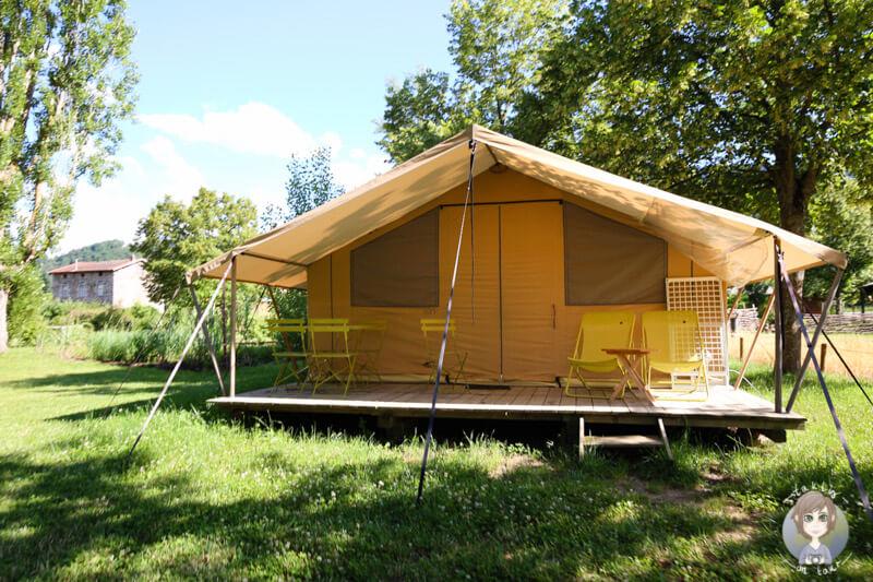 Ein Amazonaszelt in Frankreich, CosyCamp