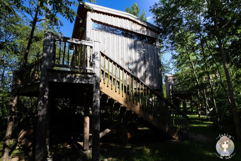 Eine Baumhütte im CosyCamp, France