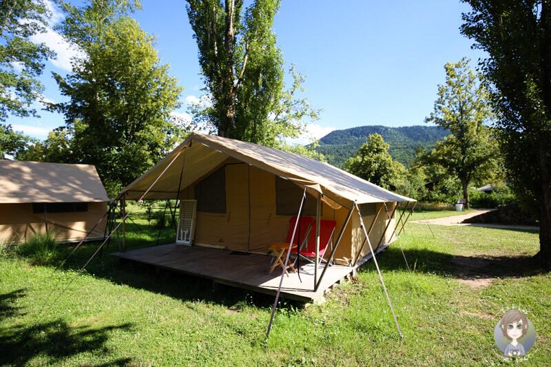 Glamping Zelt in Frankreich