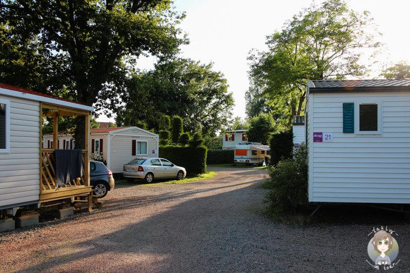Mobil Homes auf dem Camping Beau Rivage, Auvergne