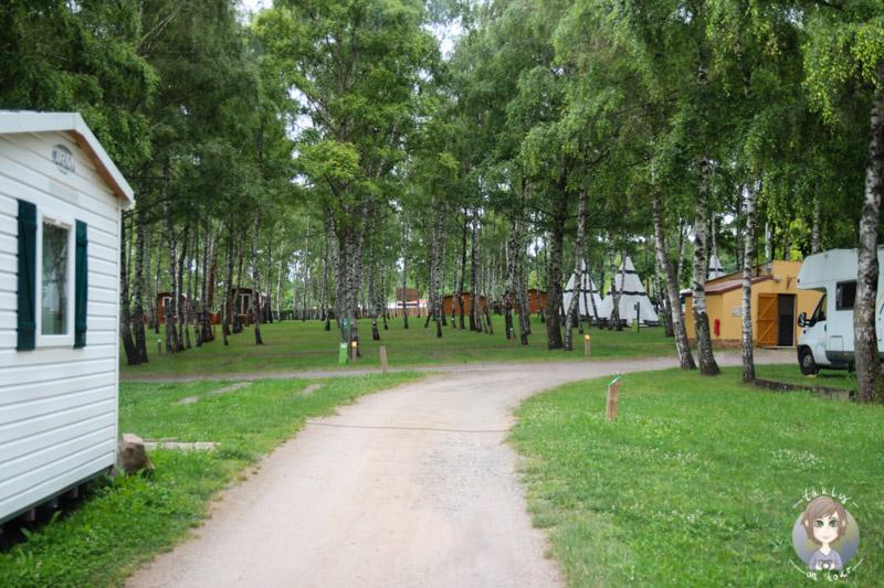 Verschiedene Arten von Camping, Campingplatz Le Ranch des Volcans